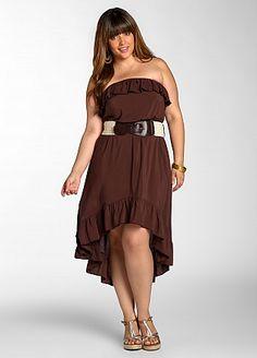 Ashley Stewart: Ruffle Dress