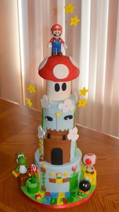 4 tiered Super Mario Cake By CakesbyHeythee on CakeCentral.com