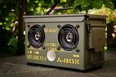 The A-BOX Light edition is an original .50 cal ammo can converted into a powerful wireless audiophile Bluetooth speaker, which makes it, the most unique bluetooth speaker on the planet.