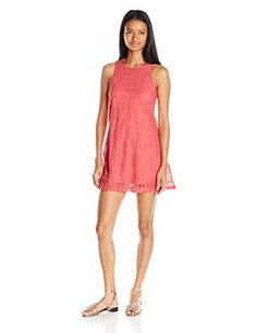 ALMOST FAMOUS Women's Lace Swing Dress, Coral, Medium: Solid lace in cotton/nylon sleeveless swing dress Womens Swing Dress, Sleeveless Swing Dress, Almost Famous, Famous Women, Summer Dresses, Formal Dresses, Coral, Rompers, Fashion Design