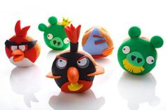 Angry Birds themed yummy donuts for Hanukkah, aka the Festival of Lights.