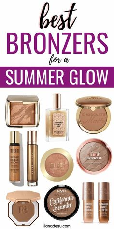 Summer is all about having a sun-kissed glow! Discover the best high-end, drugstore, and liquid bronzers to achieve the perfect sun-kissed glow this summer. Bronzer is a must-have item in your summer makeup kit! Source by lianadesu Make Up Kits, Makeup For Older Women, Makeup For Teens, Best Drugstore Makeup, Best Makeup Products, Drugstore Bronzer, Drugstore Foundation, Contouring Products, Beauty Products