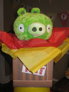Exploding Pig for Angry Bird Party