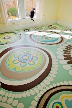 Floorink- Painted Floor Pattern IdeaI ....I love this!!!!