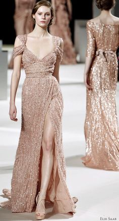 Elie Saab bridal- this sequin frock will hold up just find in the panhandle elements, right? ;)