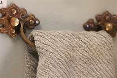 Love this idea.  Reuse a drawer pull as a towel handle.  Saw it on Funky Junky Sisters facebook page.