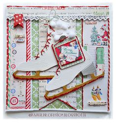 Melissa Frances Countdown to Christmas papers. Dies by Sizzix, Memory Box, Die-namics and Simon Says Stamp