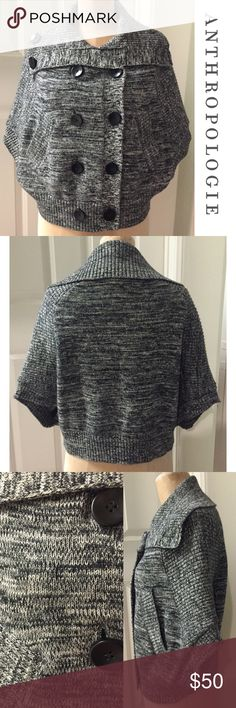 """NWOT ANTHRO Capelet, fully lined, Unique! NWOT ANTHRO Capelet, fully lined, Unique!  Approx 20"""" long, cozy and comfortable, can be worn open or buttoned, says a size small but can fit most sizes. Anthropologie Jackets & Coats Capes"""