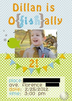 """Photo 1 of 30: Ocean/Under the Sea / Birthday """"Dillan is O {fish} ally 2!"""" 