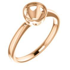10kt Rose 6.5mm Round Engagement Ring Mounting Bezel Ring, Gold Rings, Engagement Rings, Jewels, Bracelets, Yellow, Rose, Enagement Rings, Charm Bracelets