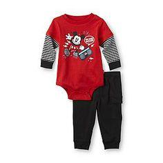 Disney- -Infant Boy's Bodysuit & Pants - Mickey Mouse