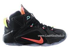 Officiel Nike Lebron 12/XII - Chaussures Nike Pas Cher Pour Homme Noir/Rouge 684493-ID1