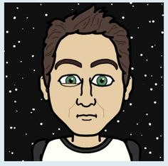 "This is my  ""starred"" Avatar... am I in the outern space?? (created with Bitstrips)"