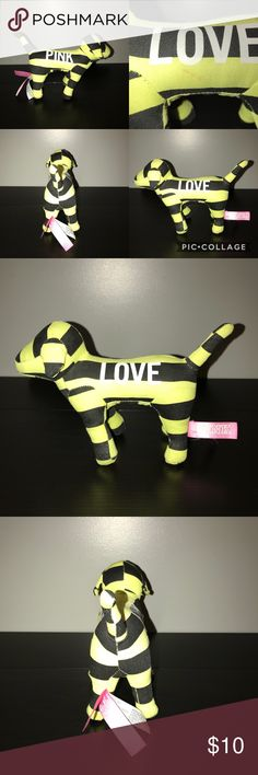 Victoria Secret Dog Regular sized mini dog. It has no tears and still has tush tag. It has a slight stain on the Love side of the dog barely noticeable but still noted in the pictures. Ready for a new home!  Thank you for looking at my post be sure to check out my closet. Be sure to follow me so you can keep up to date with all my good deals I have for sell.  I offer 15% off bundles of 3 or more. I also accept reasonable offers and I am a fast shipper. I look forward to doing business with…