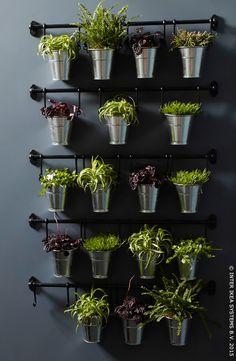 Barre de support FINTORP pour faire vivre vos murs #IKEA #herbes