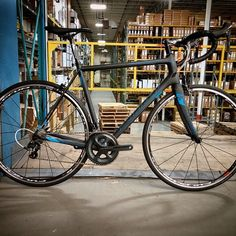 Spotted in the warehouse - our new @ridley_bikes Helium CR1 #roadbike with @rideshimano Ultegra #madeinbelgium #testedonpave