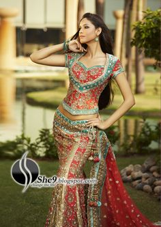 Indian Bridal Dresses | Anarkali Embroidery Designs