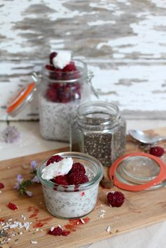Coconut Chia Pudding - #vegan and loaded with #protein and healthy fats from the chia seeds. Delicious topped with fruit for breakfast or dessert!
