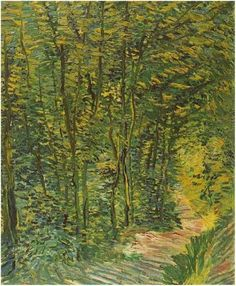 Vincent Van Gogh, Chestnut Tree in Bloom, 1887 and Path in the Woods, 1887
