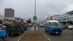 Street in Lusaka, capital de Zambia