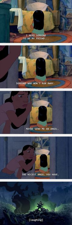 Lilo & Stitch, the perfect balance of feels, stupidity and pure adorableness in one childhood defining movie.