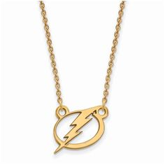 89f9ddfa Tampa Bay Lightning Women's Gold Plated Small Pendant Necklace, Your Price:  $74.99. Major League Jewelry