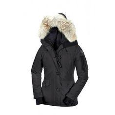 Køb Canada Goose Jakke Dame Pels Hoody Goose Coats Sort CG55