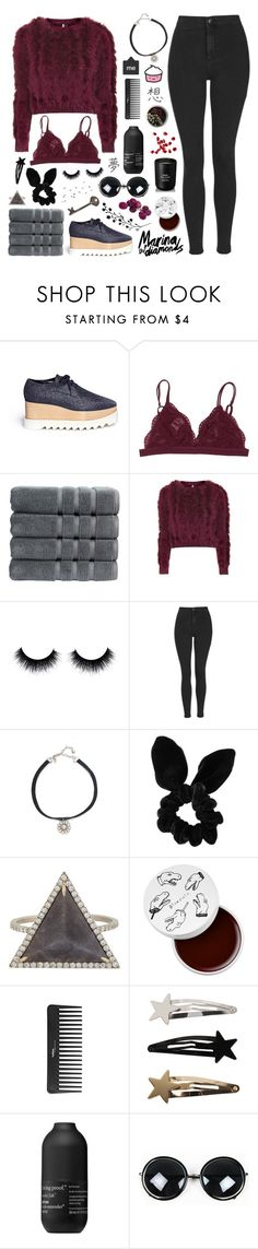 """Collab with Millie"" by anythingbutjustx ❤ liked on Polyvore featuring STELLA McCARTNEY, Christy, Topshop, Vanessa Mooney, Monique Péan, too cool for school, Sephora Collection, Living Proof, Arquiste Parfumeur and Collabswithpoppy"