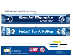 Custom Special Olympics Tennessee High Definition Knit Scarf from SportsScarf!