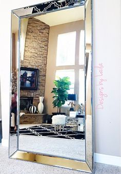 Mirrors to highlighted highly styled area.