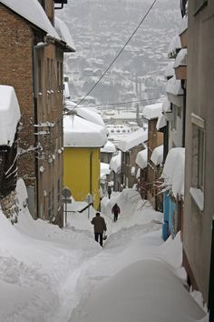 My mother always said the snow was really bad in Bosnia. This picture shows how the landscape and architecture really doesn't work very well with the bad weather. Macedonia, Albania, Montenegro, Places Around The World, Around The Worlds, Sarajevo Bosnia, Ukraine, Bosnia And Herzegovina, Eastern Europe
