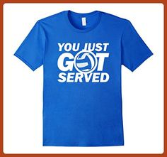 Mens Volleyball Women's T-shirt | You Just Got Served 3XL Royal Blue - Sports shirts (*Partner-Link)