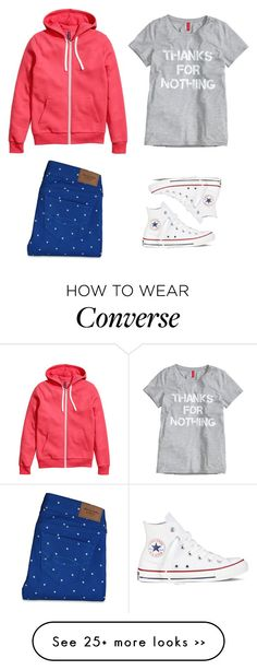 """plus nine"" by chicapeep on Polyvore featuring Abercrombie & Fitch, H&M and Converse"