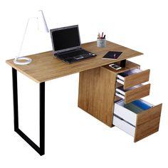 Techni Mobili Computer Desk with Storage and File Cabinet. $187.