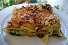 Λαζάνια με σπανάκι & πράσο !!! Φτιάξτε τα και θα με θυμηθείτε !!! Lamb Recipes, Cookbook Recipes, Cooking Recipes, Food Decoration, Pasta Salad Recipes, Appetisers, Lasagna, Food Inspiration, Veggies