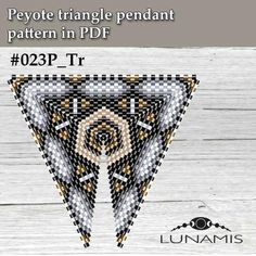 Peyote triangle patterns pattern for triangle pendant peyote