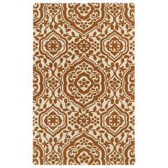 @Overstock - Hand-tufted Runway Pumpkin/ Ivory Damask Wool Rug (2' x 3') - Runway's Damask rug embraces classic elegance and transitional twist, perfectly capturing the evolving high fashion and hot new trends of today's design. This pumpkin and ivory piece is hand-tufted in India with 100-percent luxurious wool.  http://www.overstock.com/Home-Garden/Hand-tufted-Runway-Pumpkin-Ivory-Damask-Wool-Rug-2-x-3/8857495/product.html?CID=214117 $35.69