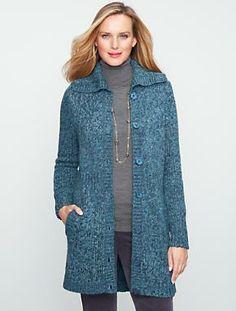 Talbots - Long Tweed Cardigan | Sweaters | Misses