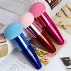 Multi-color Makeup Cosmetic Makeup Brushes Liquid Cream Foundation Sponge Brush