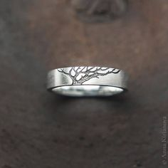 Stylish rings with the eternal family symbol of the tree. A tree is a symbol of growth too. Made of sterling silver. This listing for pair of matte rings: one with gold tree and one with black tree. If you want any other combination or you want fully polished rings please use this listing