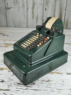 Rare Green Antique Cash Register by RusticRealm on Etsy, $275.00