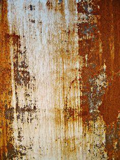 In Rust we Trust - Jon Lander - copyright 2013 - found abstract art, rust pattern on horse trailer