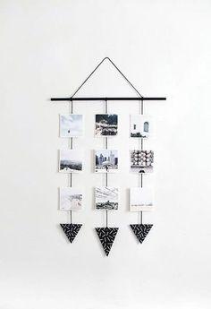 DIY photo wall hanging - Home Page Cute Room Decor, Teen Room Decor, Diy Wall Decor, Home Decor Bedroom, Easy Diy Room Decor, Photo Wall Hanging, Diy Hanging, Decoration Photo, Diy Tumblr