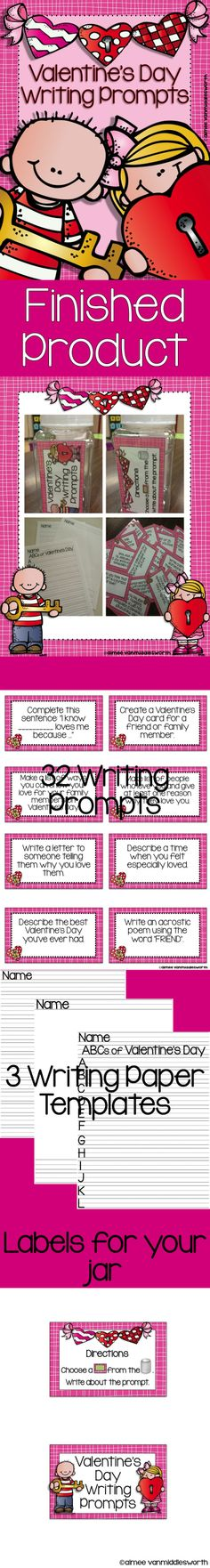 Valentine's Day Writing Prompts in a Jar!