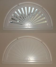 Semi Circle Window With Curtain