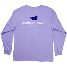 Southern Marsh Men's L/S Authentic Shirt Lilac ❤ liked on Polyvore featuring men's fashion, men's clothing, men's shirts, mens crew neck t shirts, mens cotton shirts, mens apparel, j crew mens shirts and mens clothing