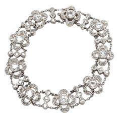 Rare Victorian Tiffany & Co Diamond Gold Bracelet