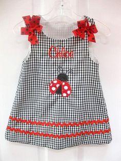 Personalized Ladybug Dress