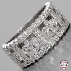 Fleur De Lis Wedding Band - Special Order-. Oh. My. God. Why didn't I see this before???