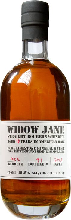 Widow Jane 10 Year Old Single Barrel Kentucky Bourbon Whiskey | @Caskers Aged for ten years, this bourbon earned the Double Gold Medal at the San Francisco World Spirits Competition in 2013.